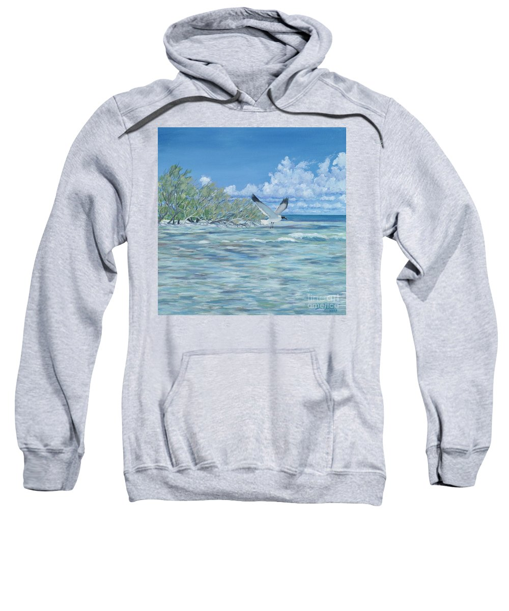 Seascape Sweatshirt featuring the painting Seablue by Danielle Perry