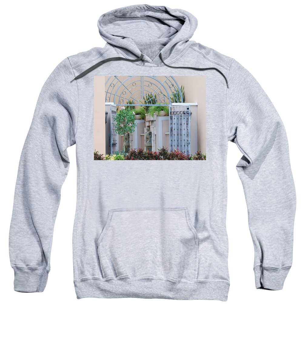 Architecture Sweatshirt featuring the photograph Seahorse Fountian by Rob Hans