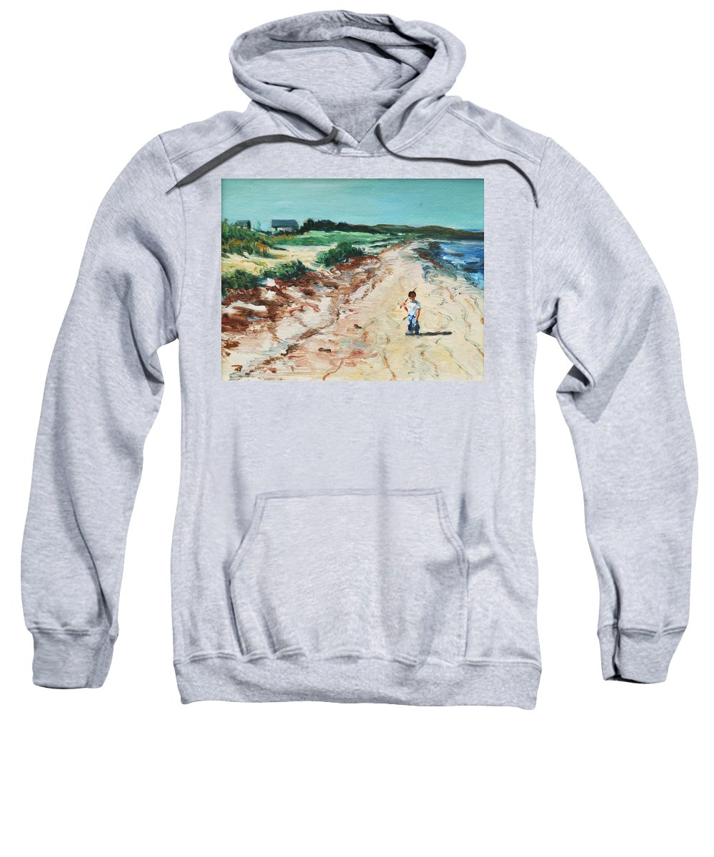 Beach Sweatshirt featuring the painting Sean by Rick Nederlof