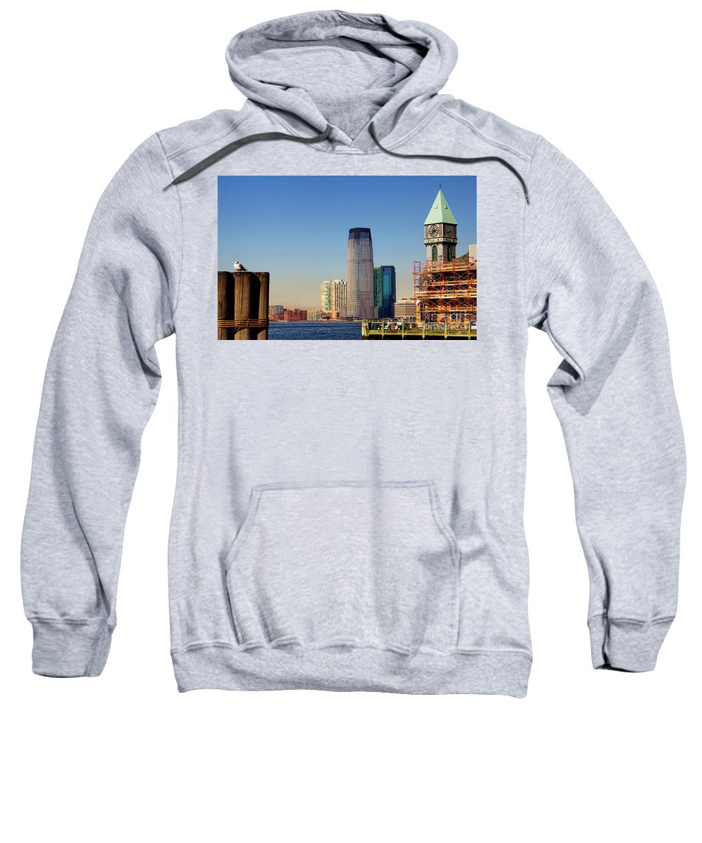 Nyc Sweatshirt featuring the photograph Seaport Ny by Chuck Kuhn