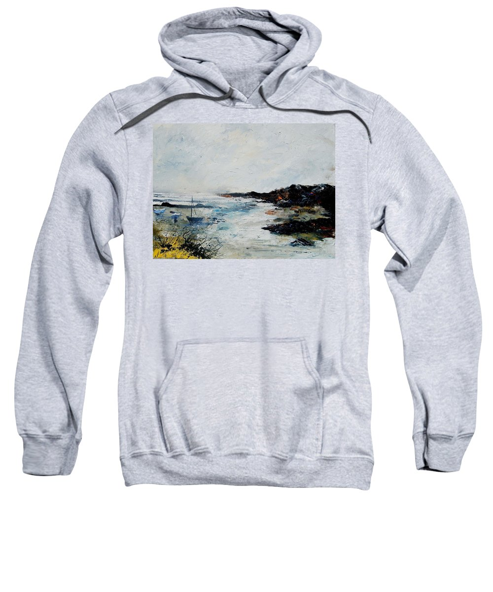 Sea Sweatshirt featuring the painting Seascape 68 by Pol Ledent