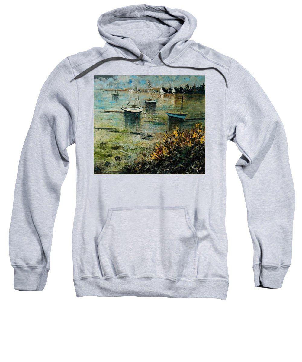 Seascape Sweatshirt featuring the print Seascape 78 by Pol Ledent