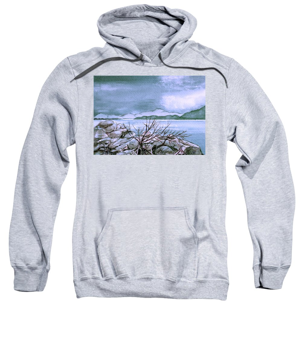 Landscape Sweatshirt featuring the painting Seascape by Brenda Owen