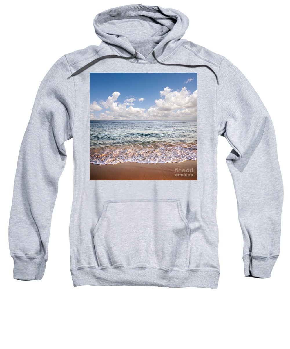 Background Sweatshirt featuring the photograph Seascape by Carlos Caetano