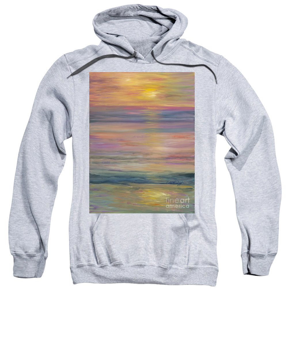 Sea Sweatshirt featuring the painting Seascape by Nadine Rippelmeyer