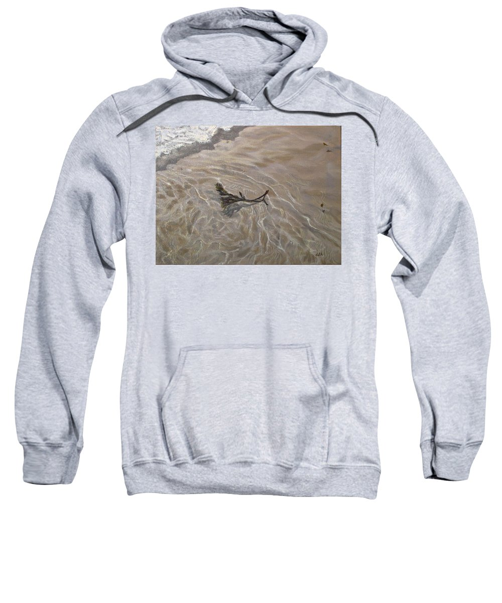 Seascape Sweatshirt featuring the painting Seashore Reflections by Lea Novak