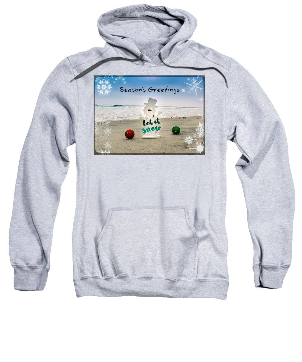 Beach Sweatshirt featuring the photograph Season's Greetings by Alison Frank