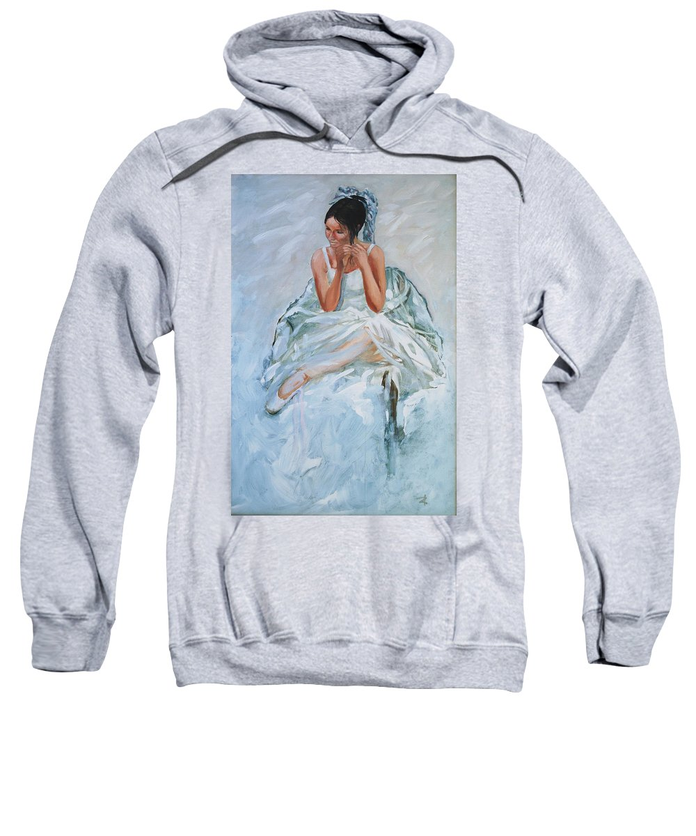 Figurative Sweatshirt featuring the painting Seated Dancer by Rick Nederlof