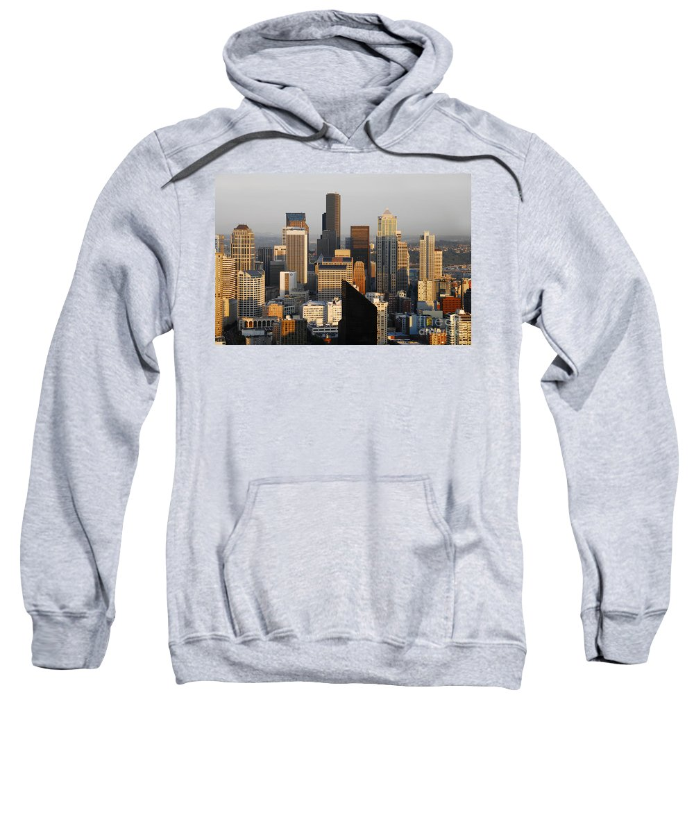 Seattle Washington Sweatshirt featuring the photograph Seattle by David Lee Thompson