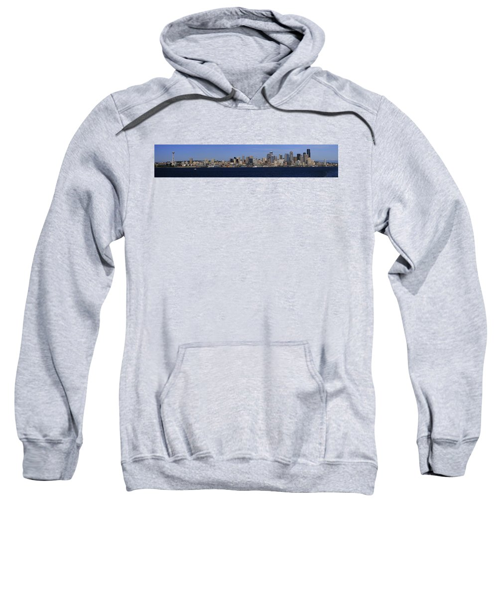 3scape Sweatshirt featuring the photograph Seattle Panoramic by Adam Romanowicz