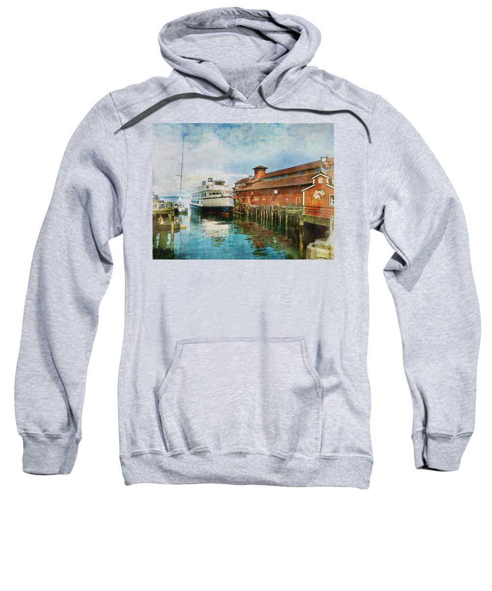 Seattle Sweatshirt featuring the photograph Seattle Waterfront by Claude LeTien