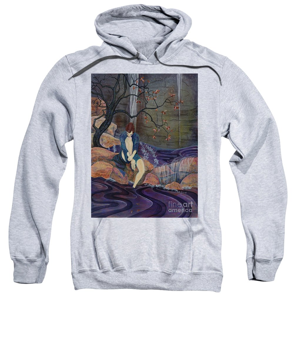 Woman Sweatshirt featuring the painting Secret Place by Debbie Arnold