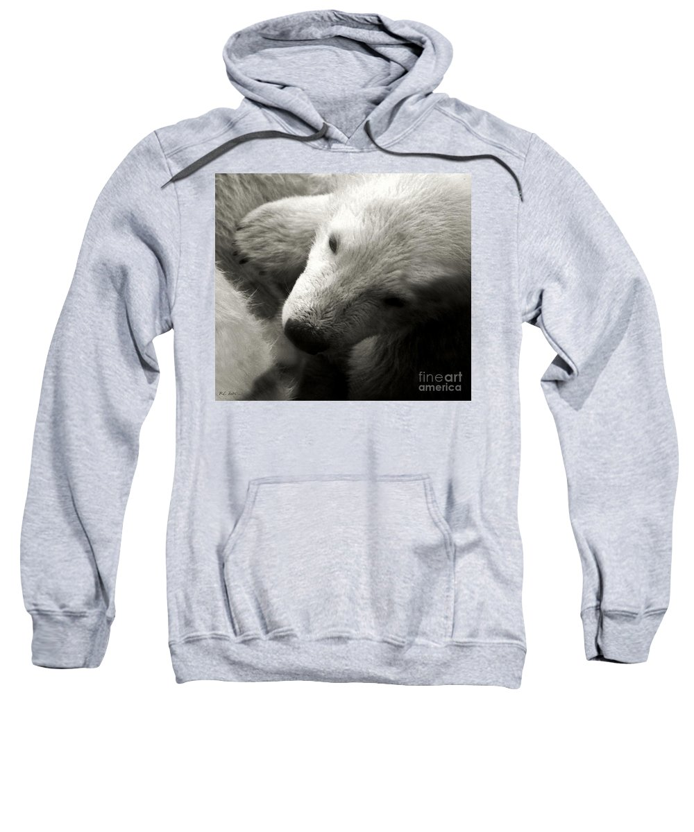 Polar Bear Sweatshirt featuring the photograph Security Blanket by RC DeWinter