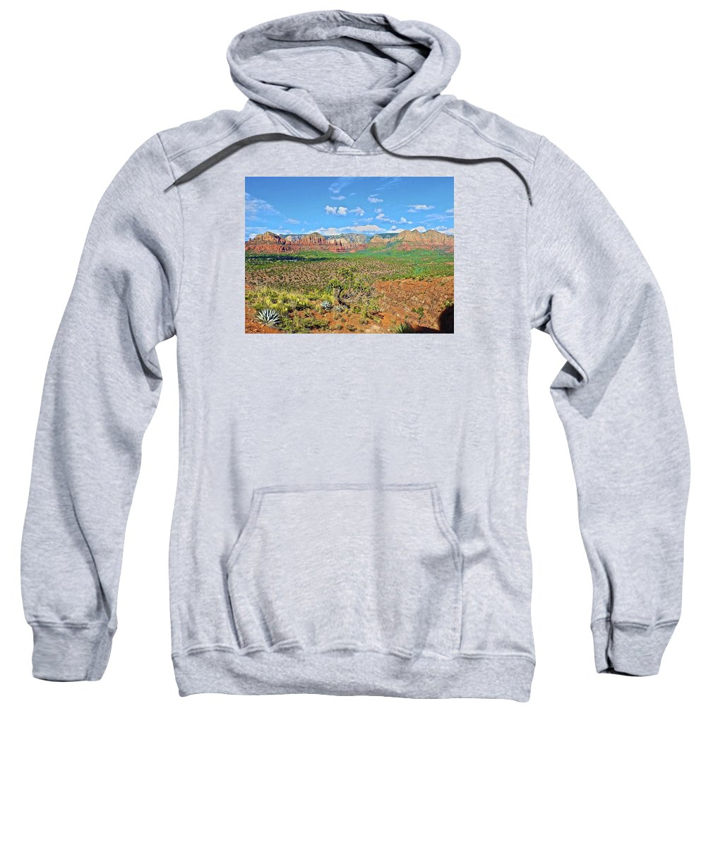 Wave Sweatshirt featuring the photograph Sedona Landscape2 by Michael Cappelli