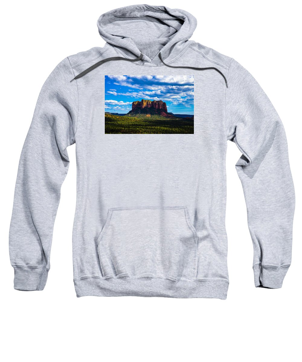 Sedona Sweatshirt featuring the photograph Sedona by Len Morales Jr
