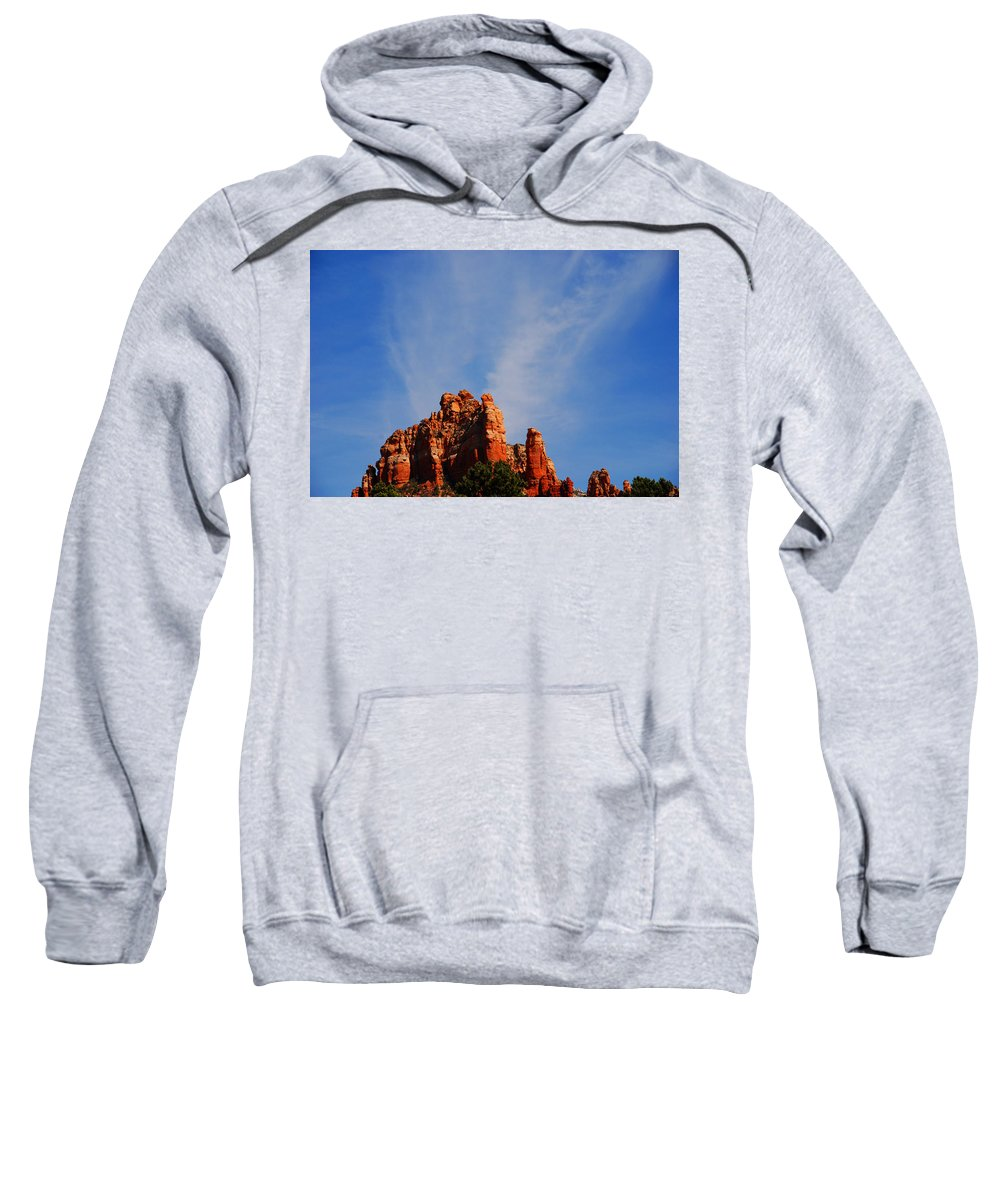 Photography Sweatshirt featuring the photograph Sedona Sky by Susanne Van Hulst