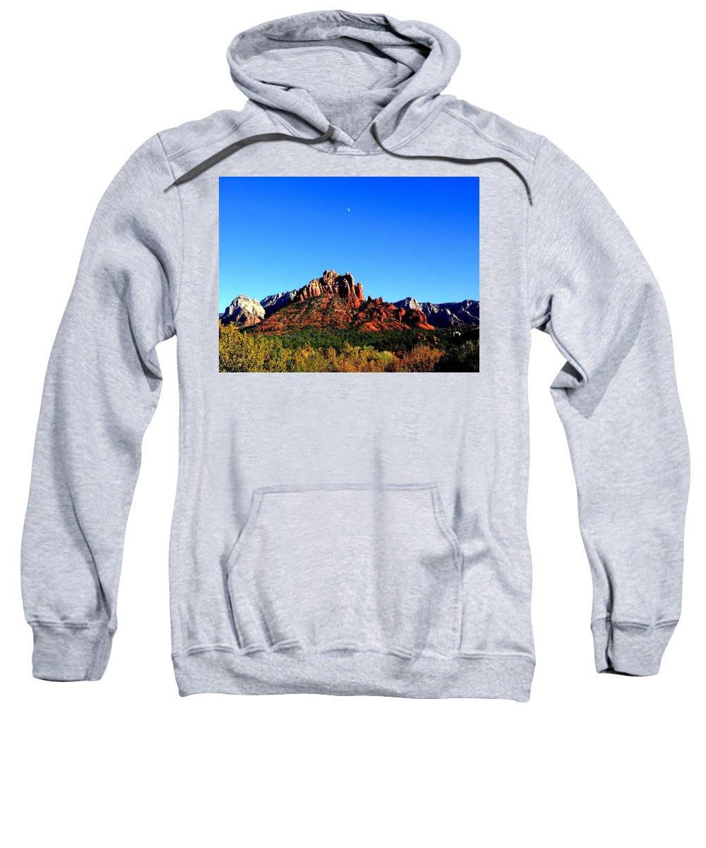 Sedona Sweatshirt featuring the photograph Sedona Snoopy Rock by Michelle Dallocchio