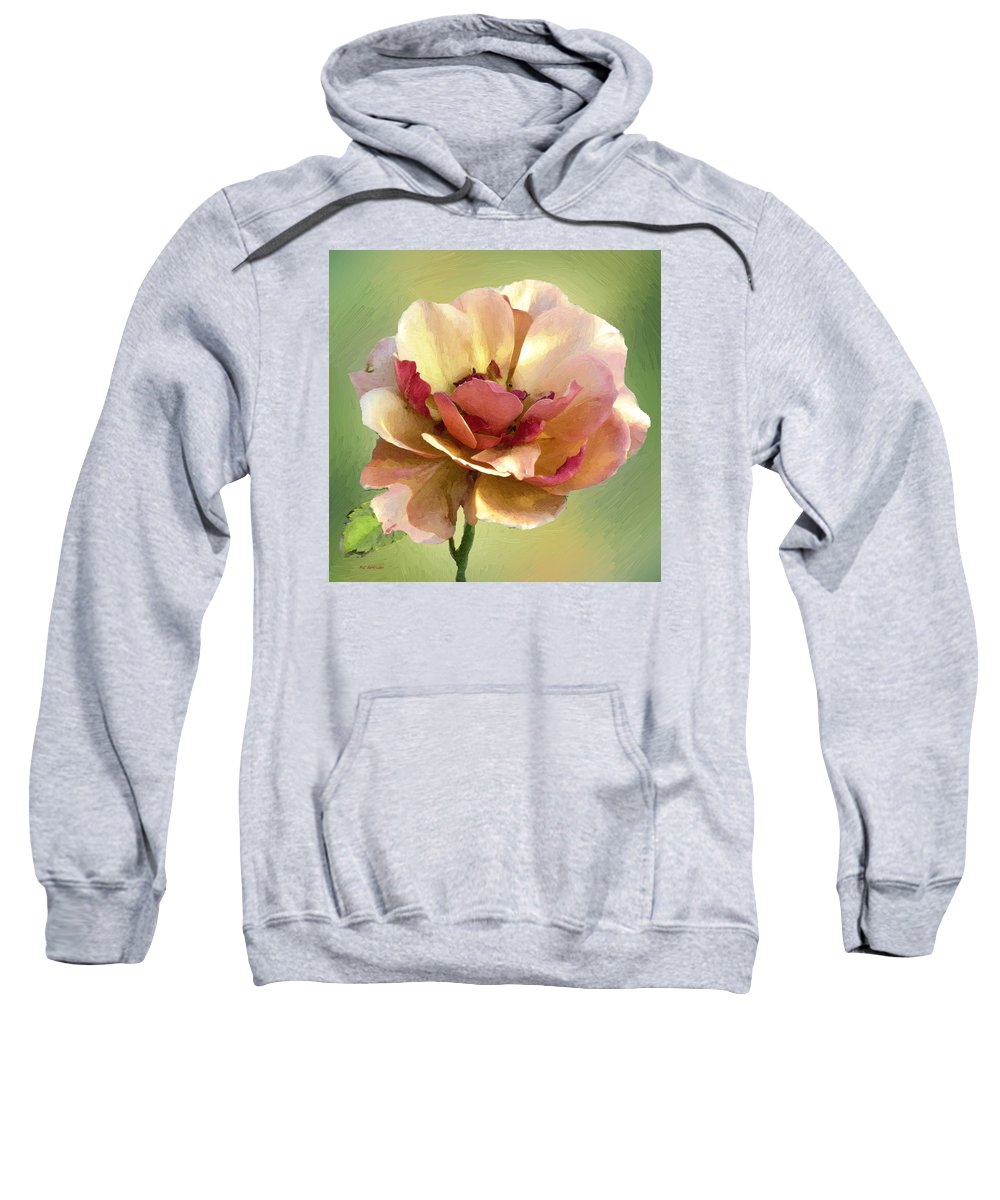 Rose Sweatshirt featuring the painting Seductive by RC DeWinter