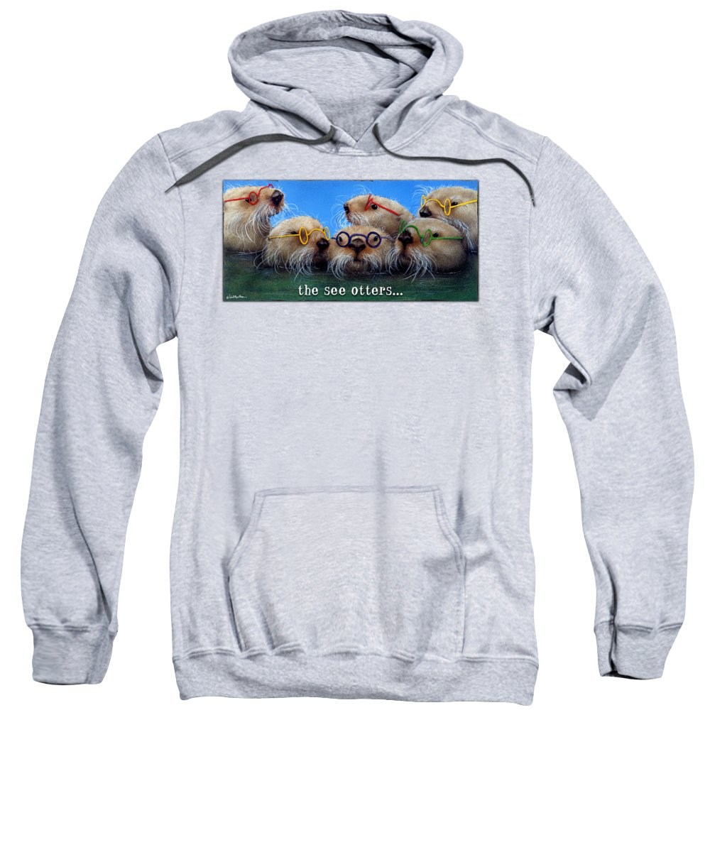 Will Bullas Sweatshirt featuring the painting See Otters... by Will Bullas