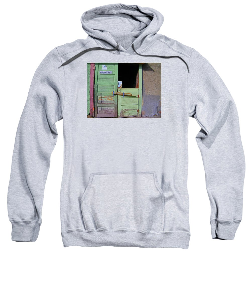 Abstract Sweatshirt featuring the photograph See-through Doors by Lenore Senior