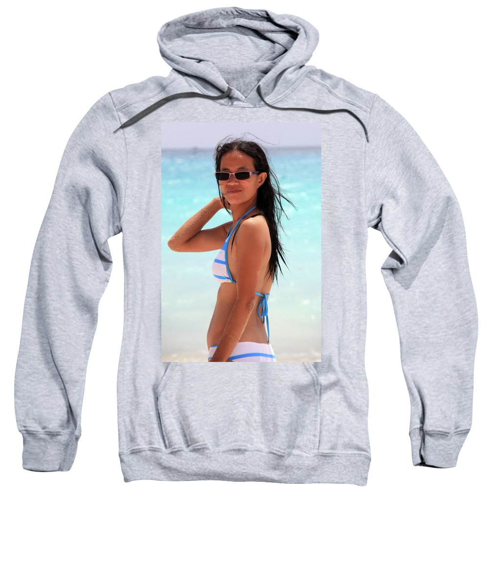 Mati Sweatshirt featuring the photograph See You A S A P by Jez C Self