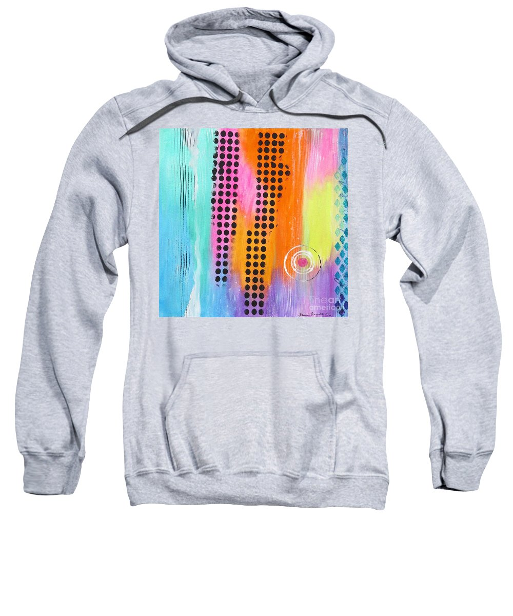 Modern Art Sweatshirt featuring the painting Sejour by Desiree Paquette