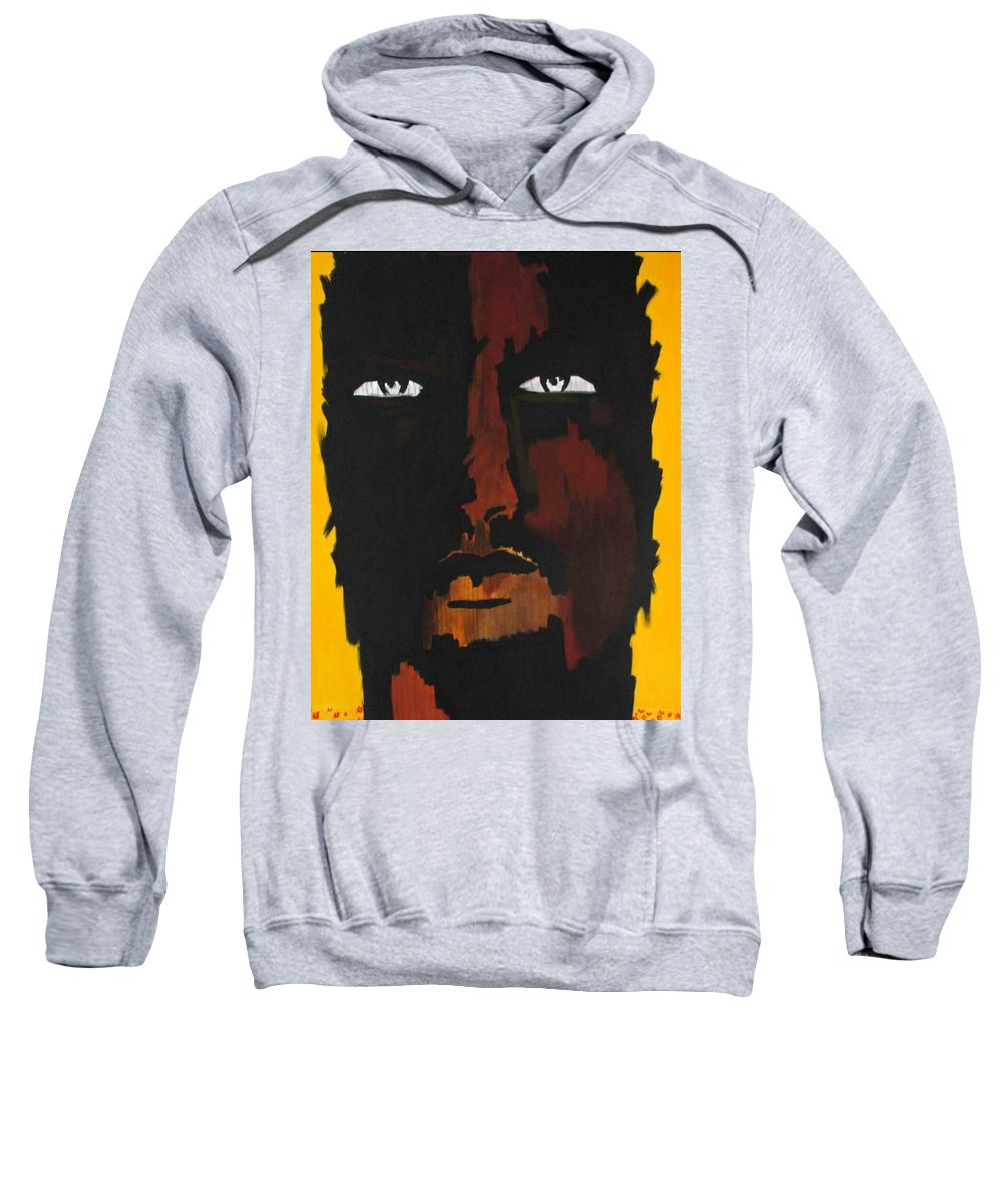 Portrait Sweatshirt featuring the painting Selfie by Murali Gatti