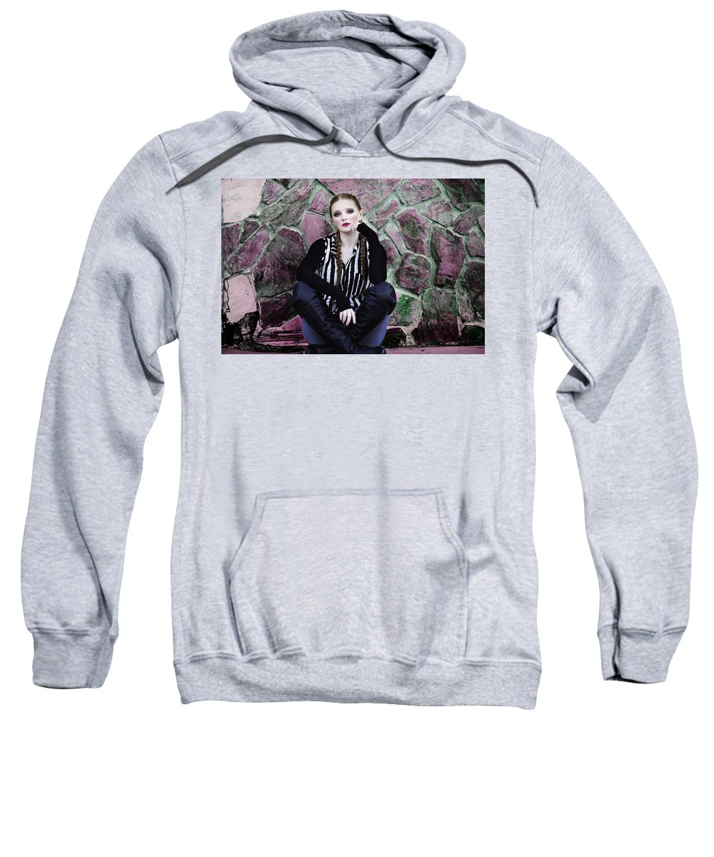 Senior Sweatshirt featuring the photograph Senior Portrait by Dawn Van Doorn