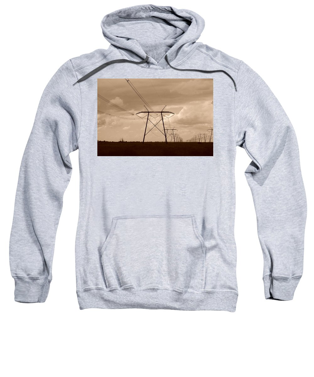 Sepia Sweatshirt featuring the photograph Sepia Power by Rob Hans