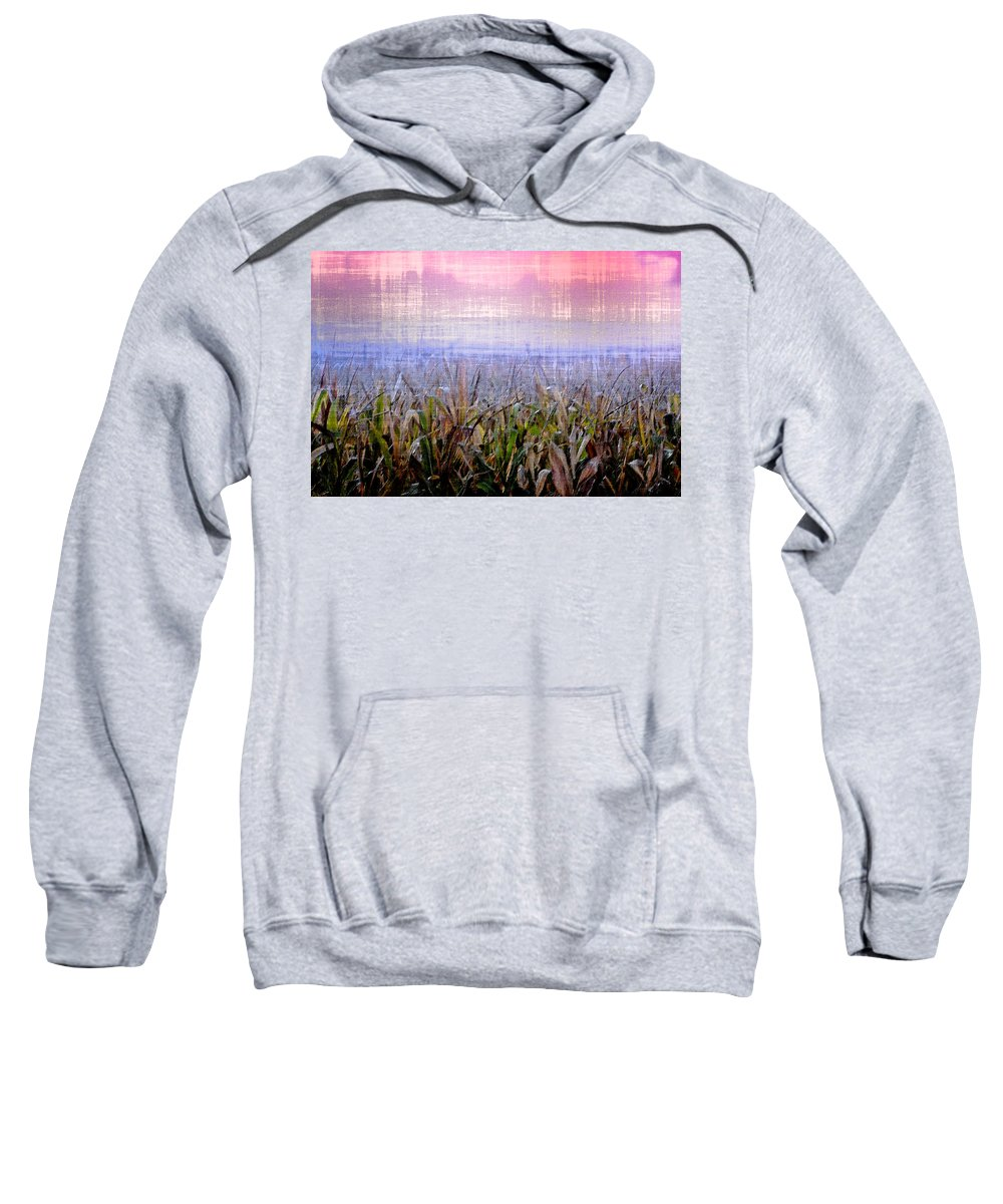 September Sweatshirt featuring the photograph September Cornfield by Bill Cannon