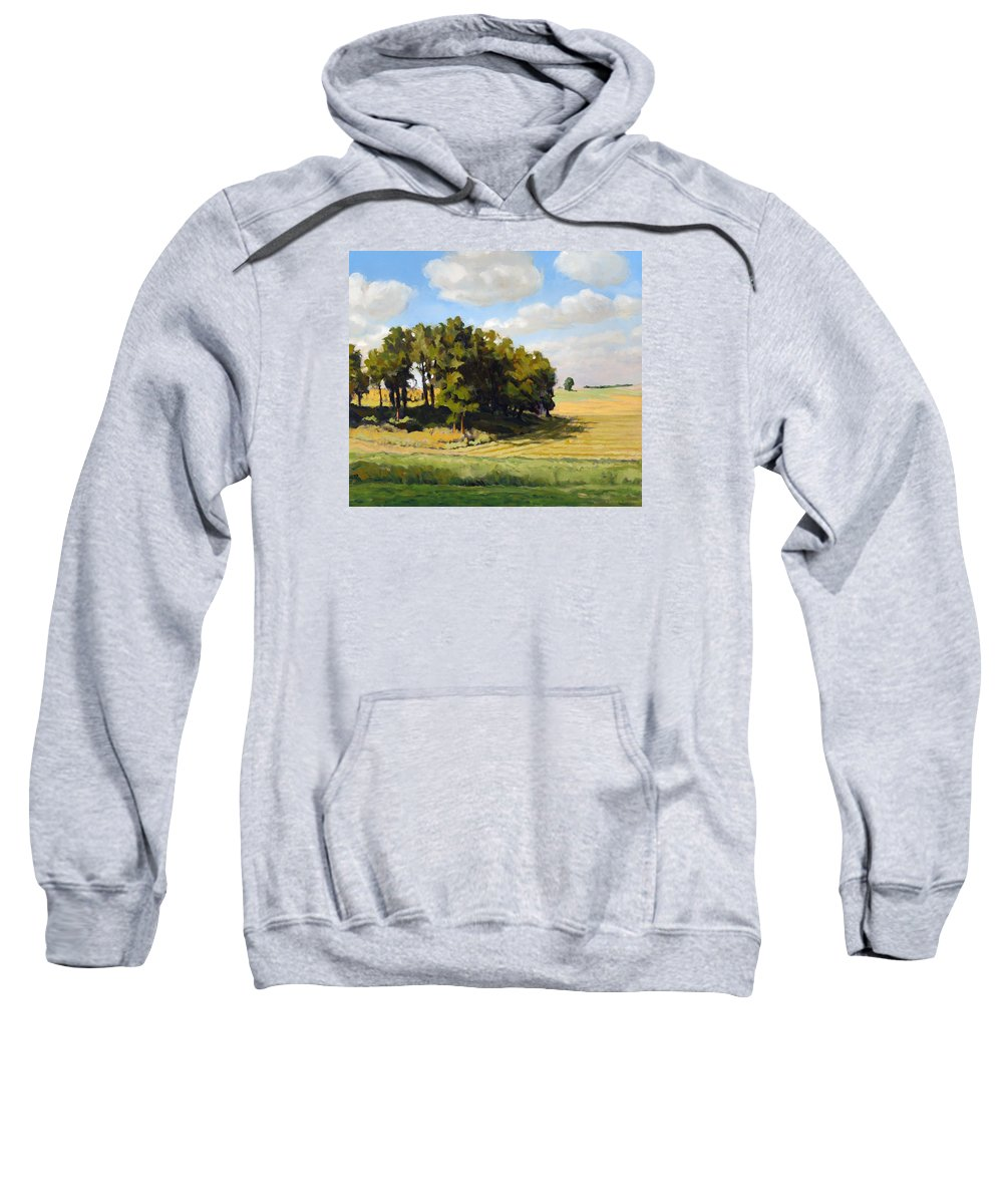 Landscape Sweatshirt featuring the painting September Summer by Bruce Morrison