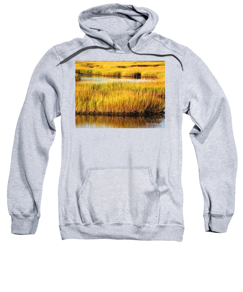 Water Sweatshirt featuring the photograph Serene Grasses by Sybil Staples