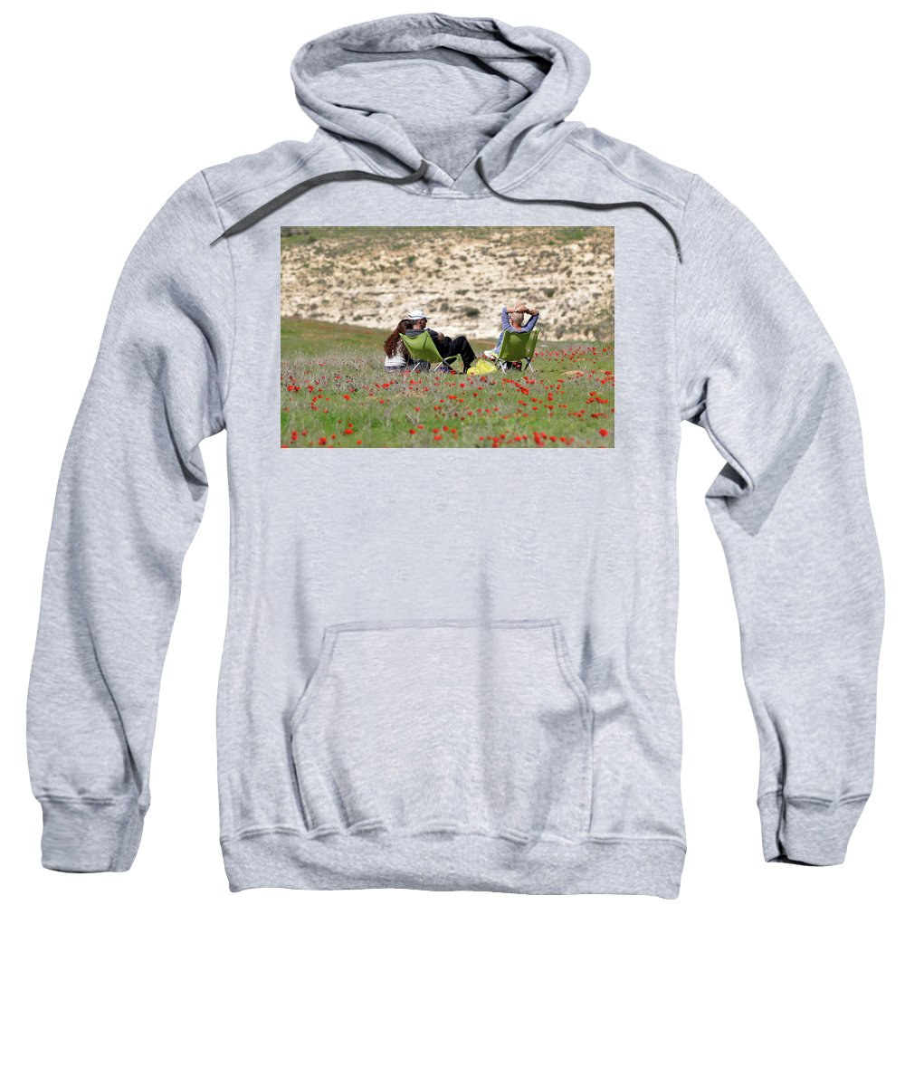 Serenity At Lachish Sweatshirt featuring the photograph Serenity At Lachish by Dubi Roman