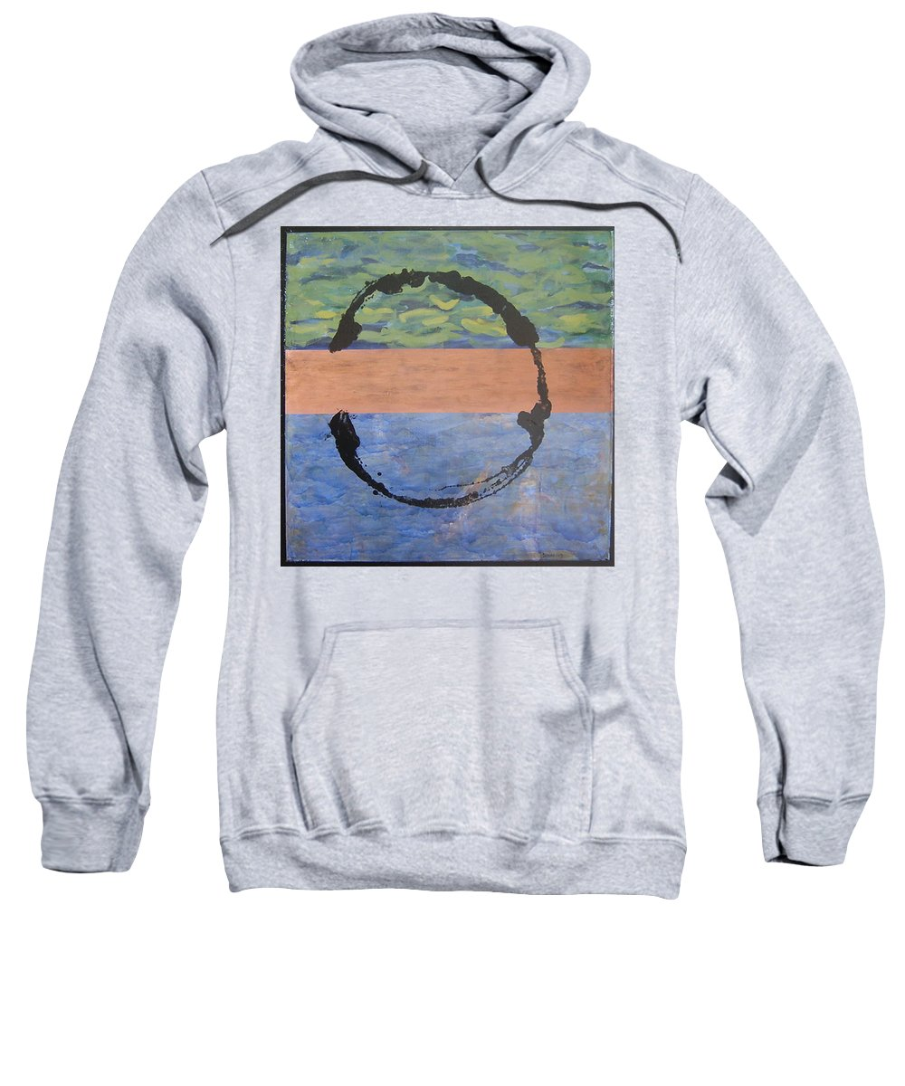 Serenity Sweatshirt featuring the painting Serenity by Ellen Beauregard