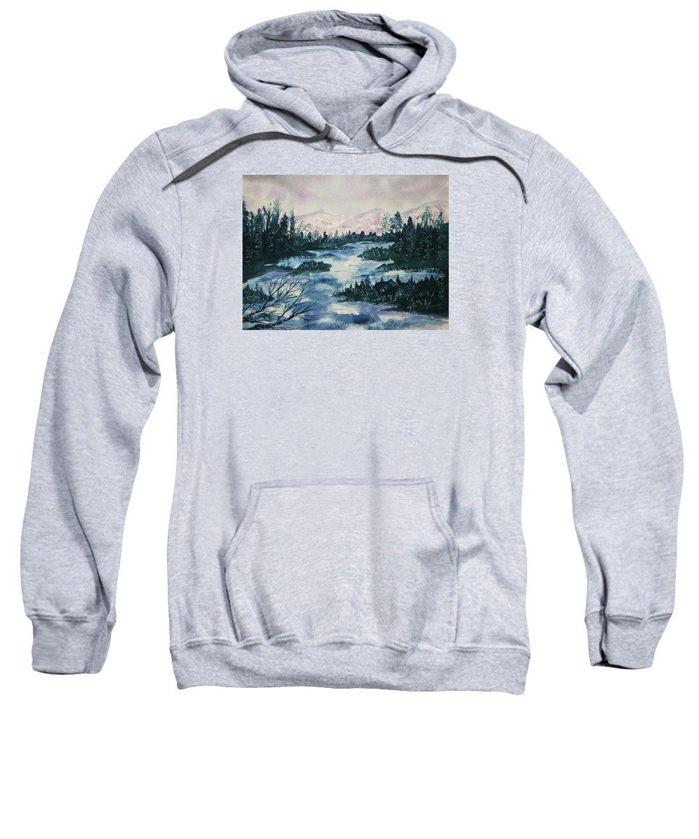 Water Sweatshirt featuring the painting Serenity IIi by Ellen Levinson