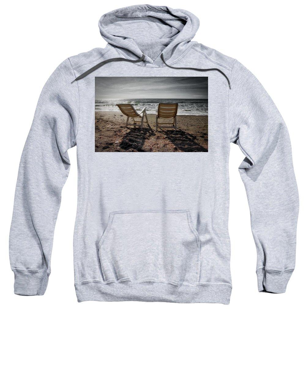 Beach Sweatshirt featuring the photograph Serenity by John McCuen