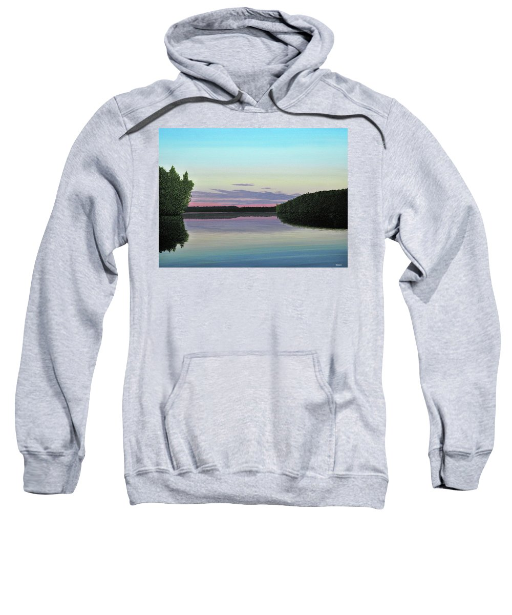 Landscape Sweatshirt featuring the painting Serenity Skies by Kenneth M Kirsch