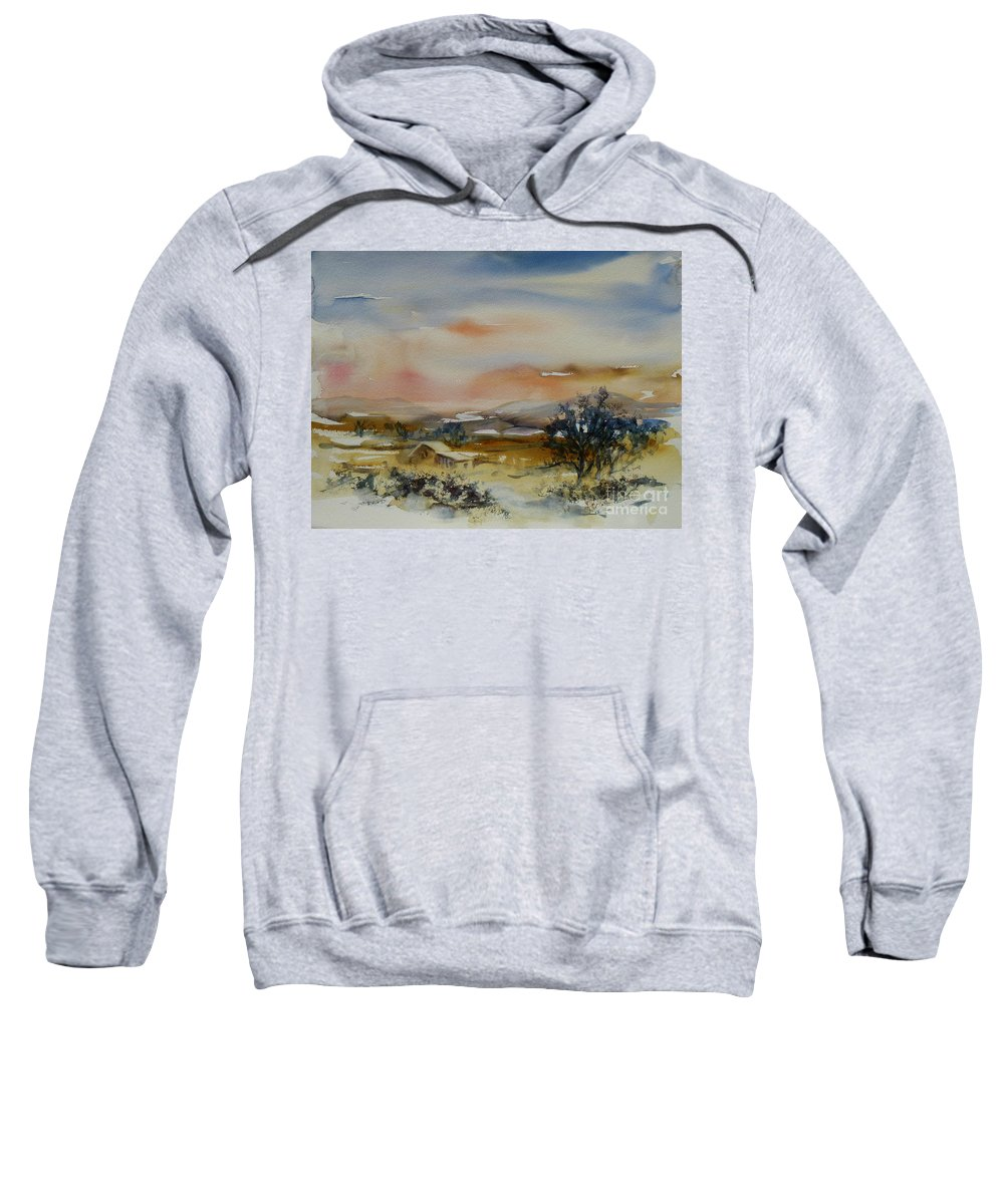 Landscape Sweatshirt featuring the painting Serenity by Xueling Zou