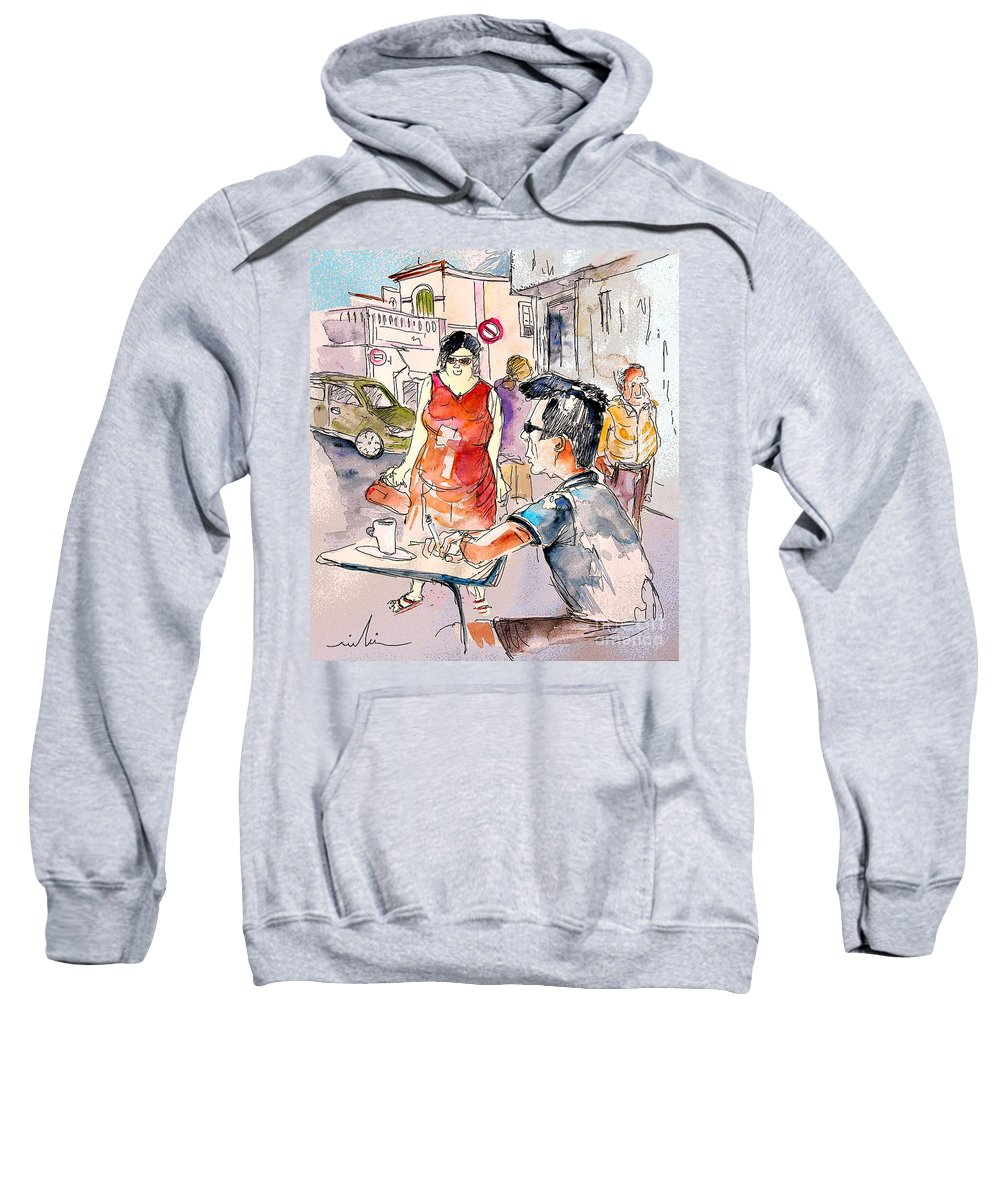 Portugal Paintings Sweatshirt featuring the painting Serpa Portugal 16 by Miki De Goodaboom