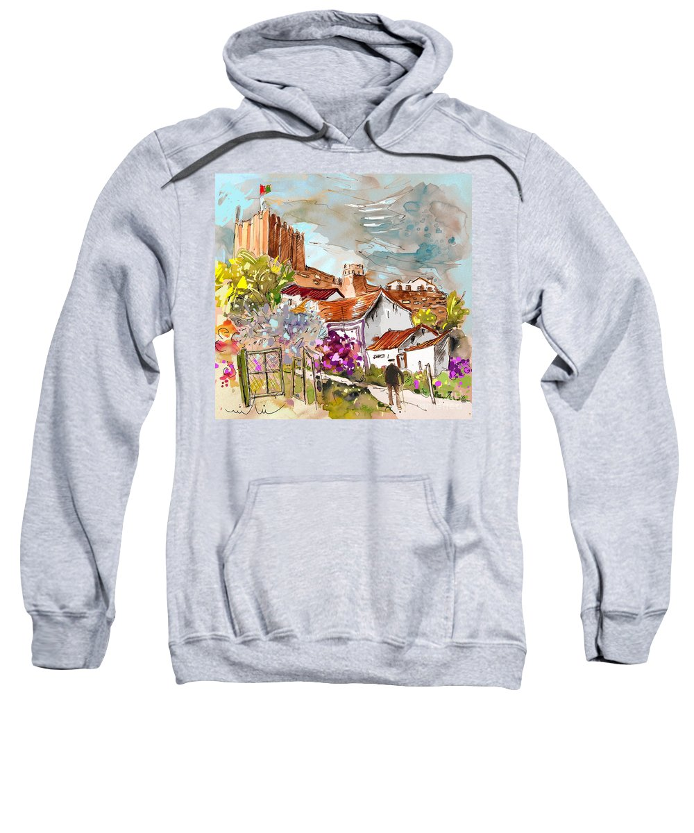 Water Colour Painting Serpa Portugal Sweatshirt featuring the painting Serpa Portugal 26 by Miki De Goodaboom
