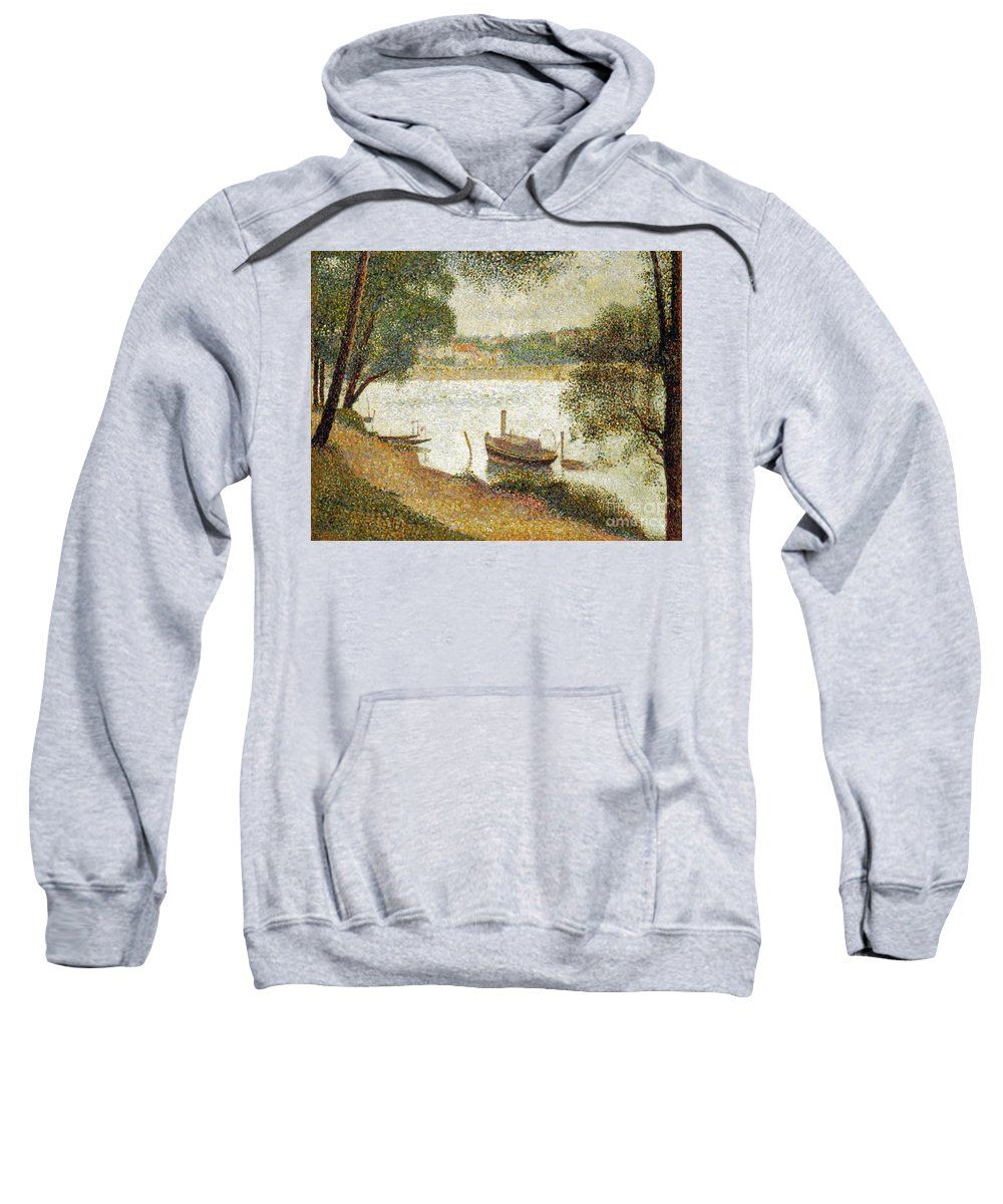 19th Century Sweatshirt featuring the photograph Seurat: Gray Weather by Granger