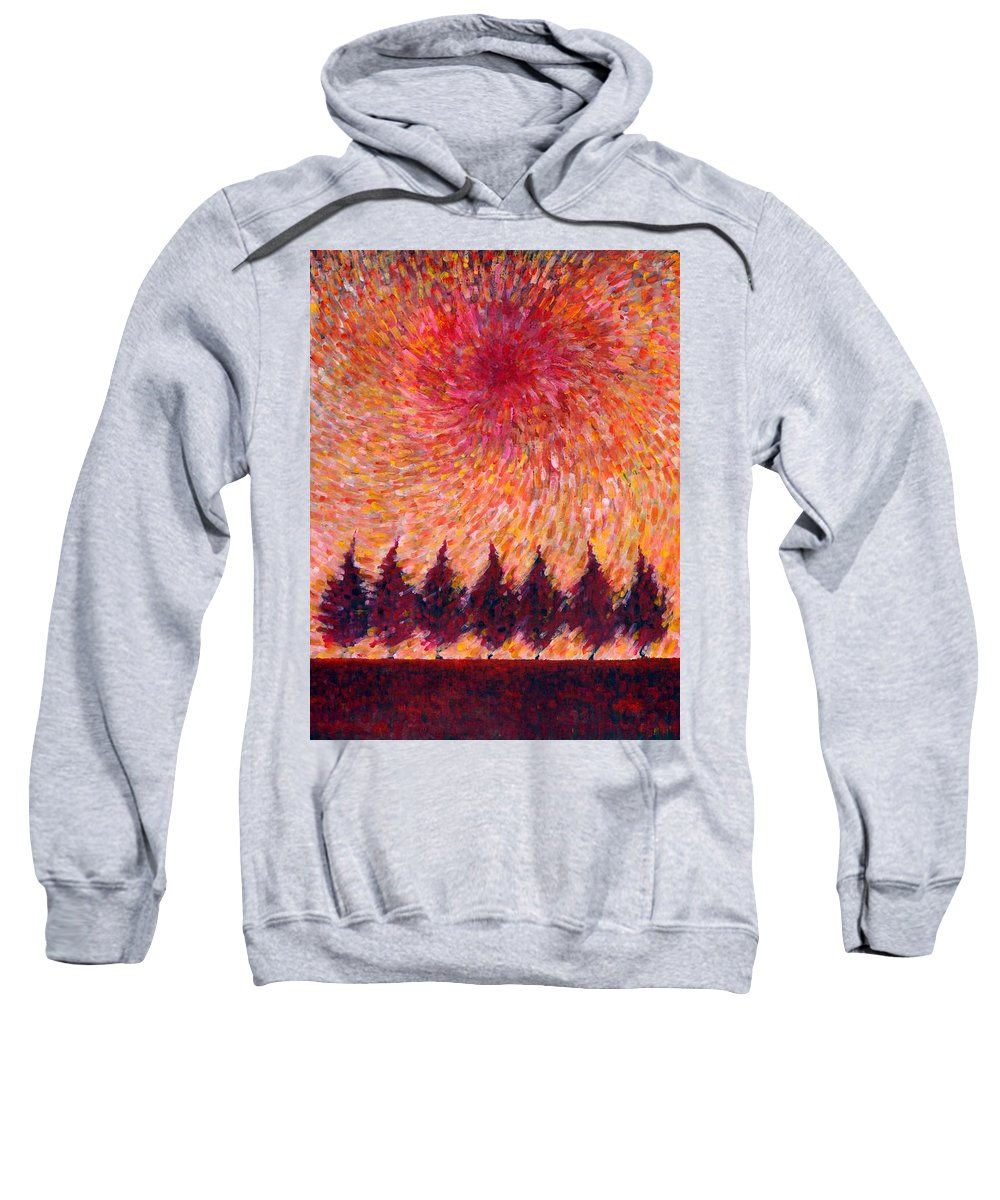 Colour Sweatshirt featuring the painting Seven Wishes by Wojtek Kowalski