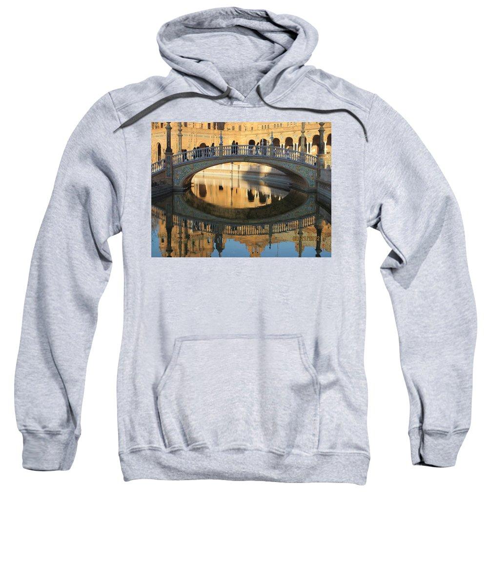 Seville Spain Sweatshirt featuring the photograph Seville, Spain Tile Bridge by Diane Berard
