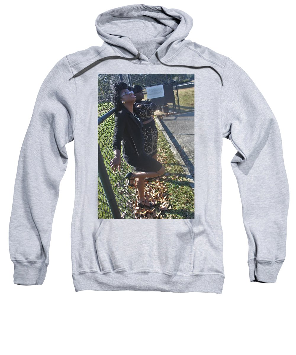 Black Dress Sweatshirt featuring the photograph Sexy Friends 5 by Christopher White