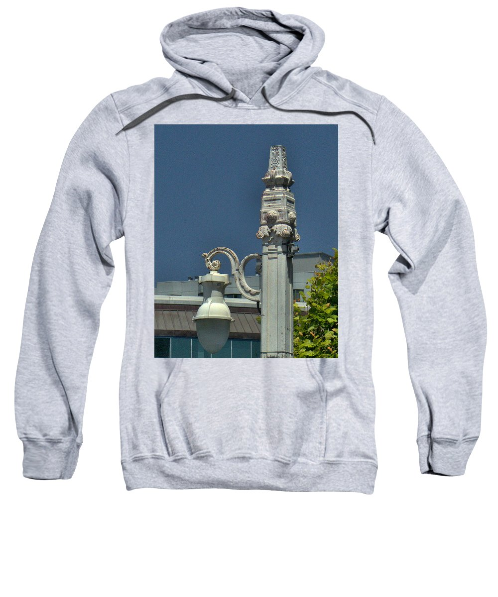 San Francisco Sweatshirt featuring the photograph Sf Lamp Post by Michael Gordon