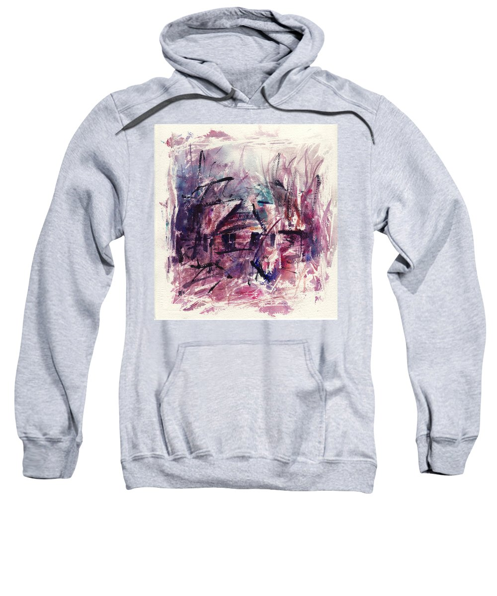 Shack Sweatshirt featuring the painting Shack First Movement by Rachel Christine Nowicki