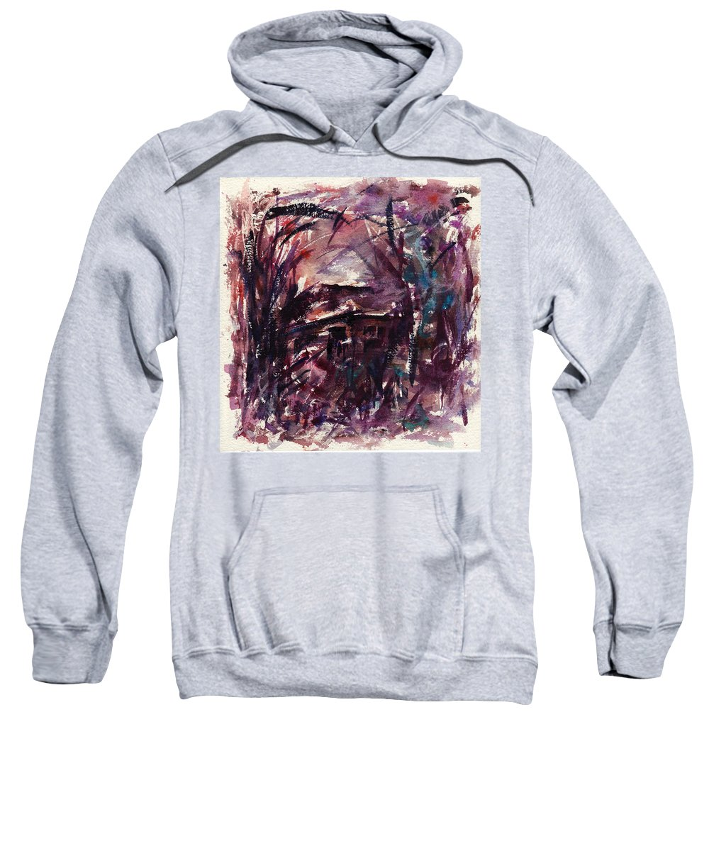 Shack Sweatshirt featuring the painting Shack Second Movement by Rachel Christine Nowicki