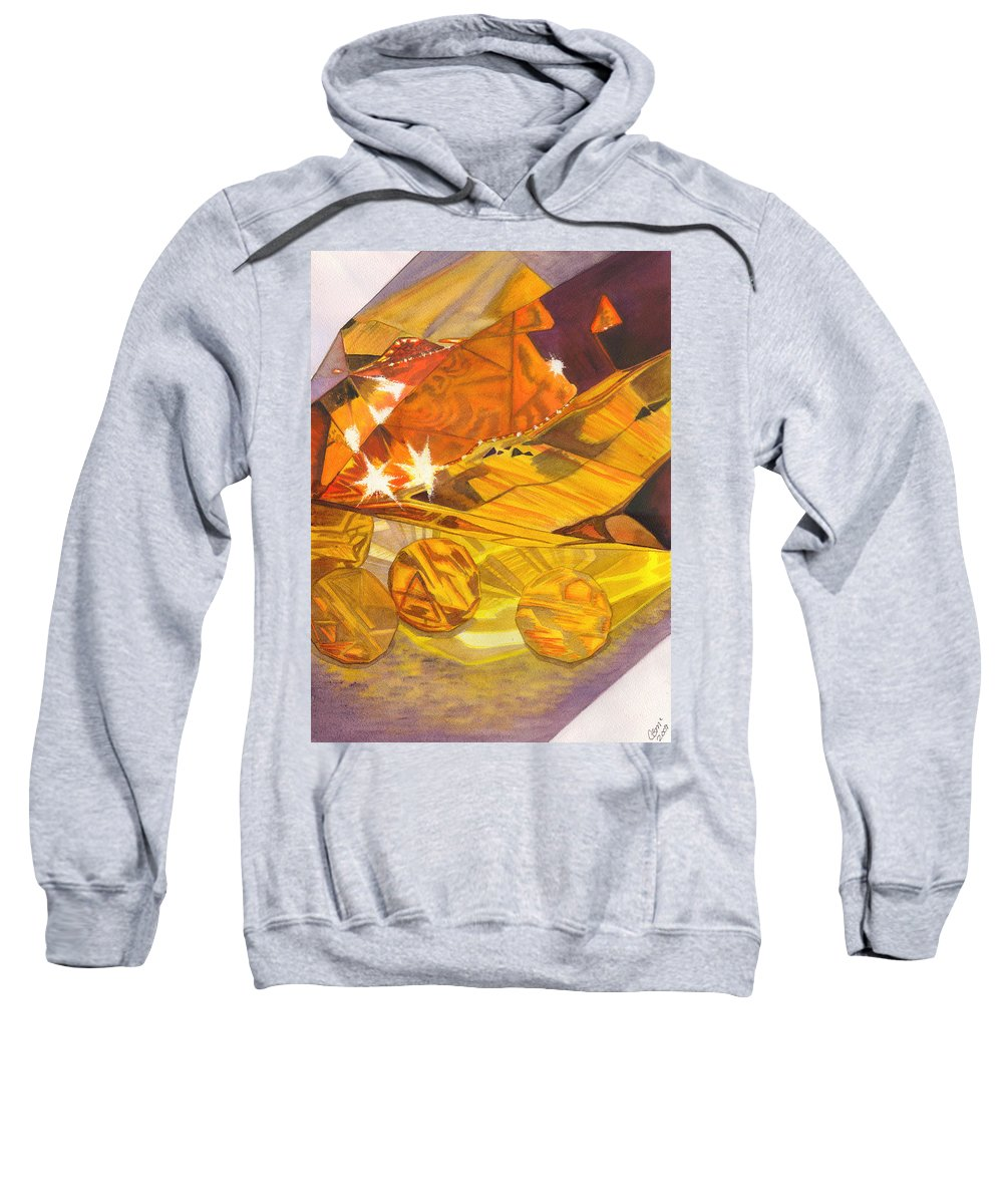 Prism Sweatshirt featuring the painting Shades Of Yellow by Catherine G McElroy