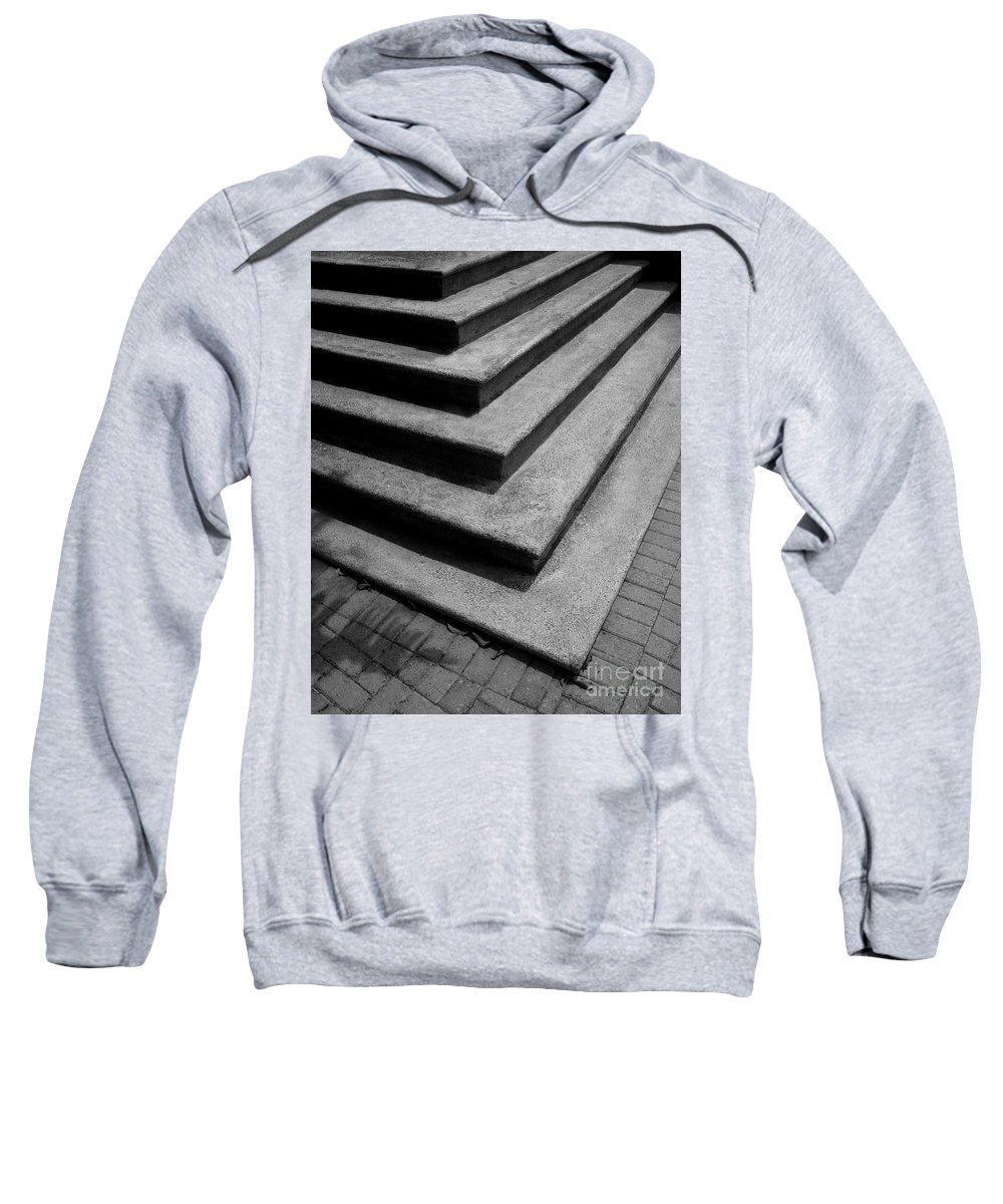 Shadow Sweatshirt featuring the photograph Shadow And Steps by Perry Webster