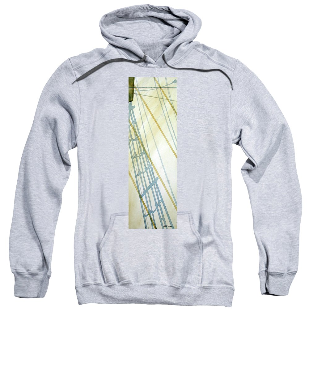 Boats Sweatshirt featuring the painting Shadow by Jim Gerkin